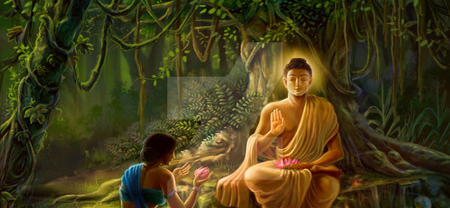 Buddha and followers